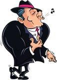 Bandit musculeux de bande dessinée Photo libre de droits