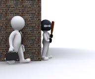 Bandit volant un homme d'affaires Image stock