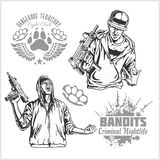 Bandits and hooligans - criminal nightlife Royalty Free Stock Photos