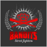 Bandits and hooligans - emblem of criminal Royalty Free Stock Photography