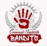 Bandits and hooligans - emblem of criminal Stock Image
