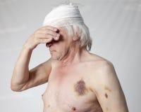 Bandits mutilated man Stock Image