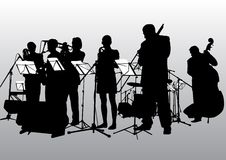 bandjazzmusik royaltyfri illustrationer