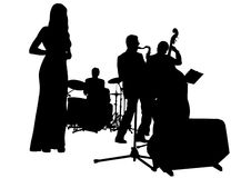 bandjazzmusikal vektor illustrationer