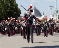 Bandmaster and band formation of the Carabinieri Royalty Free Stock Images