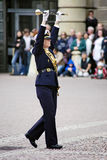 Bandmaster of military band in Stockholm Stock Photo