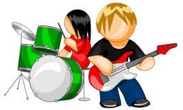 bandmusik Royaltyfri Illustrationer