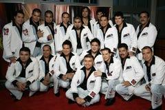 Latin Grammy Celebra Nuestra Musica. Bando El Recodo arrive on the red carpet for the Latin Grammy Celebra Nuestra Musica show at the Univision studios in Miami stock photography
