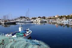 Bandol小游艇船坞在法国 库存图片