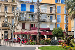 Bandol, France - april 20 2016 : the picturesque city Stock Images