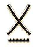 Bandolier with bullets. Ammunition belt. Tape cartridges Stock Photos