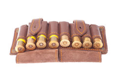 Bandolier with hunting cartridges Royalty Free Stock Photography