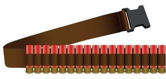 Bandolier. Shotgun Shell collected bandolier on the belt. Vector illustration vector illustration