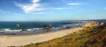 Bandon海滩,风景俄勒冈海岸 免版税库存图片