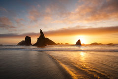 Bandon beach, Oregon coast. Sunset at Bandon beach, Oregon coast Royalty Free Stock Photos