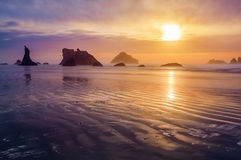 Bandon beach sunset Royalty Free Stock Photography