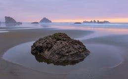 Bandon Beach at twilight Stock Image