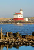 Bandon Light. Coquille River Lighthouse, also called Bandon Light, in Bullards Beach State Park.  Built in 1896 Stock Photos
