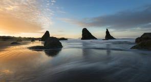 Bandon plaża przy wschodem słońca fotografia royalty free
