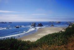 Bandon, spiaggia dell'Oregon Fotografia Stock Libera da Diritti