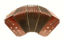 Bandoneon. Tango instrument isolated with path Royalty Free Stock Photography