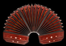 Bandoneon, argentine tango instrument, isolated Stock Image