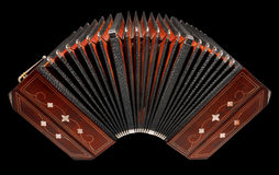 Bandoneon, argentine tango instrument, isolated Royalty Free Stock Photo