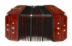 Bandoneon, d'isolement sur le blanc Photographie stock