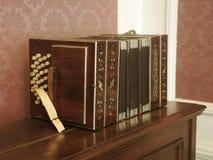 Bandoneon in het museum van Carlos Gardel. Royalty-vrije Stock Foto's