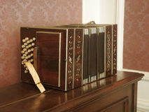 Bandoneon in the museum of Carlos Gardel. Royalty Free Stock Photos