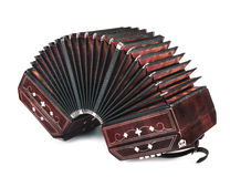 Bandoneon on white background Stock Images