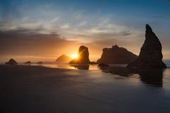 Bandonstrand, Oregon, de V.S. stock fotografie