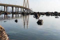 Bandra - Worli havssammanlänkning royaltyfria foton