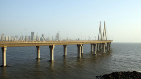 Bandra Worli Sea Link Bridge of Mumbai Stock Photo