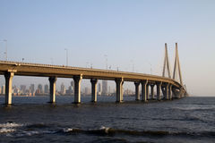 Bandra Worli Sea Link Bridge of Mumbai Royalty Free Stock Photos