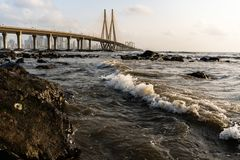 Bandra - Worli Sea Link. royalty free stock image