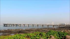 Bandra-Worli Sea Link, Mumbai. Bandra-Worli Sea Link, eight lane cable-stayed bridge that links regions of Bandra and Worli, western suburbs of Mumbai with stock footage