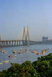 Bandra Worli Sea Link. MUMBAI, INDIA - MARCH 12, 2017 : Bandra Worli Sea link is a major sea link that connects the Mumbai City, India Royalty Free Stock Photo