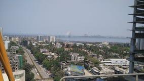 Bandra Worli Sea Link from Worli Naka royalty free stock photography