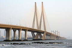 Bandra-Worli Sea Link. The Bandra-Worli Sea Link, officially called Rajiv Gandhi Sea Link, is a cable-stayed bridge that links Bandra with Worli in Mumbai, India Royalty Free Stock Photography