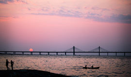 Bandra worli sea link Royalty Free Stock Image