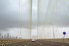 Bandra Worli Sealink in Mumbai India fotografia stock libera da diritti