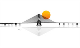Bandra–Worli Sea Link cable-stayed bridge Stock Photography