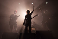 bandrocksilhouettes Royaltyfri Foto