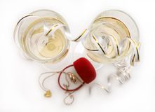 bands champagnebröllop Arkivbild