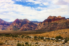 Bands of Colored Mountains in Red Rock Canyon Stock Photo