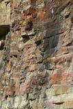 bands den sedimentary röda rocken fotografering för bildbyråer