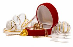 bands musen över bröllopwhite Royaltyfria Bilder