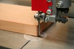 Bandsaw blade up close Stock Image