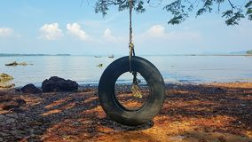 Bandschommeling in het oude stadskoh eiland van Lanta royalty-vrije stock foto